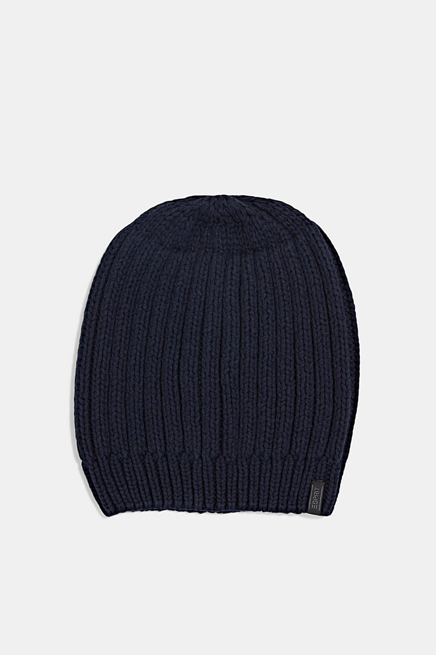 Rib knit beanie with organic cotton
