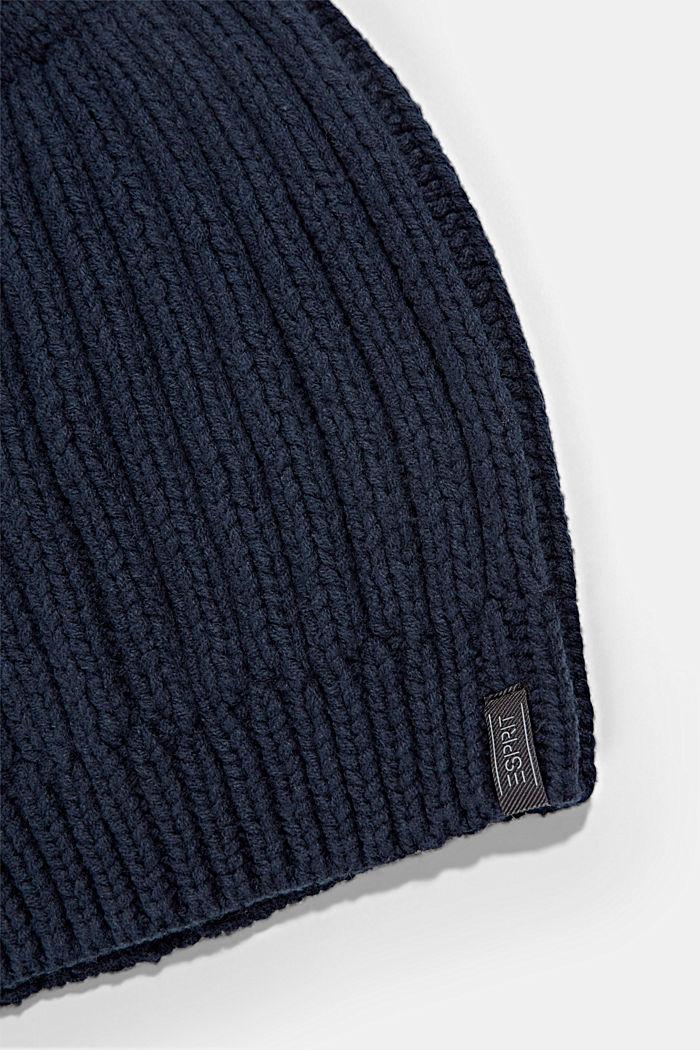 Rib knit beanie with organic cotton