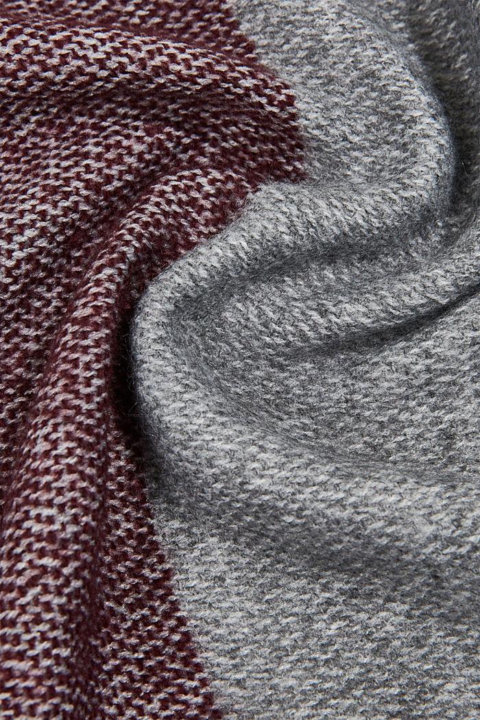 Gerecycled: sjaal met blokstrepen, LIGHT GREY, detail image number 2