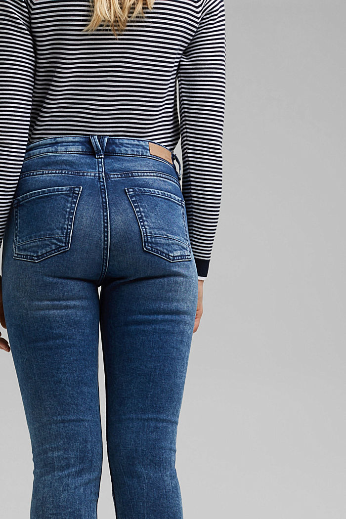Stretch jeans with organic cotton, BLUE MEDIUM WASHED, detail image number 2