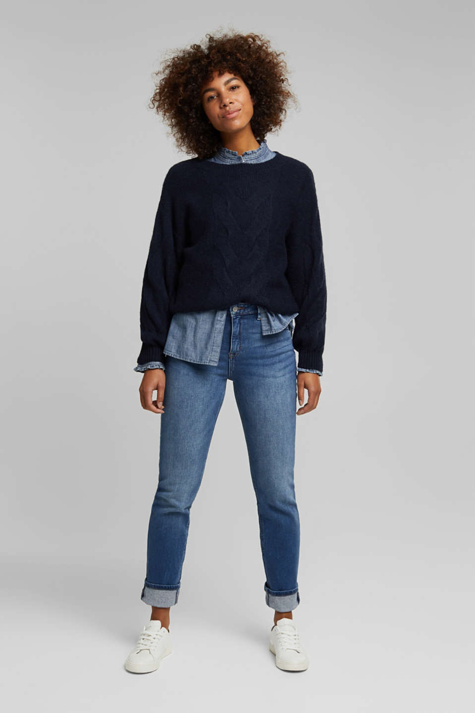 Esprit - MODERN STRAIGHT jeans made of organic cotton