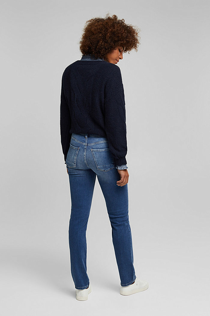 MODERN STRAIGHT Jeans aus Organic Cotton, BLUE DARK WASHED, detail image number 3