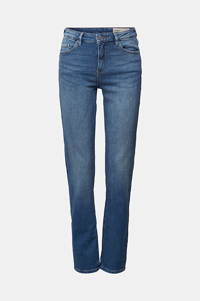 MODERN STRAIGHT Jeans aus Organic Cotton, BLUE DARK WASHED, detail image number 5