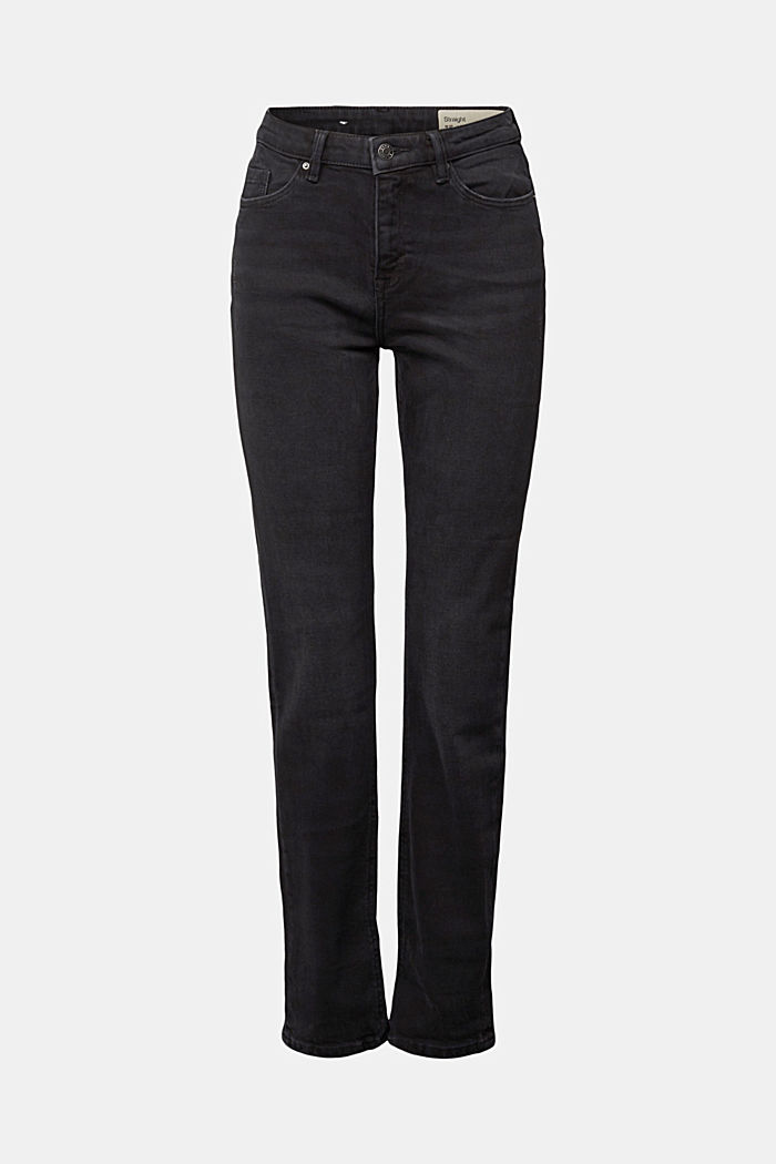 MODERN STRAIGHT jeans made of organic cotton, BLACK DARK WASHED, detail image number 6