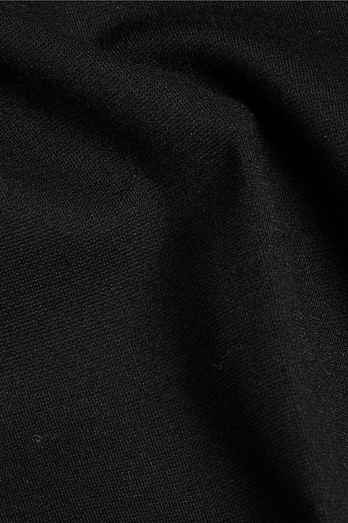 Chino aus Punto-Jersey, BLACK, detail image number 4