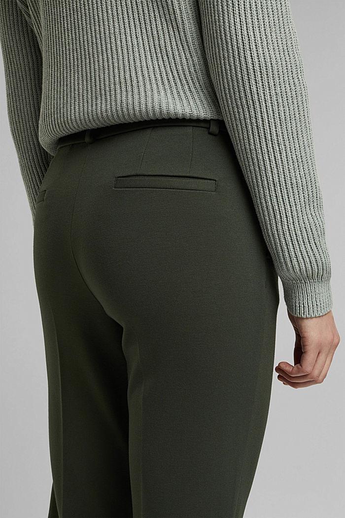 Punto jersey chinos, KHAKI GREEN, detail image number 2