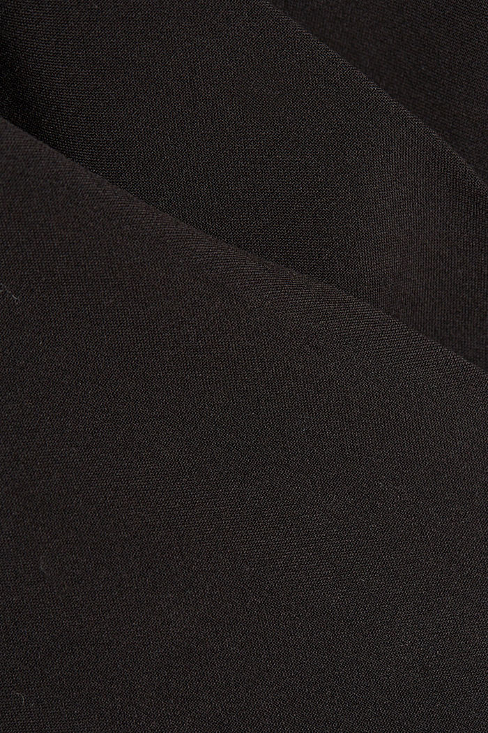 Stretch trousers with a tie-around belt, BLACK, detail image number 4