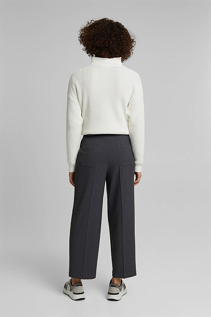 Stretch trousers with a tie-around belt, DARK GREY, detail image number 3