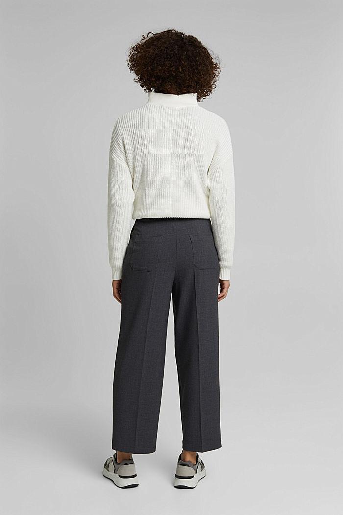 Pantalon stretch à ceinture à nouer, DARK GREY, detail image number 3