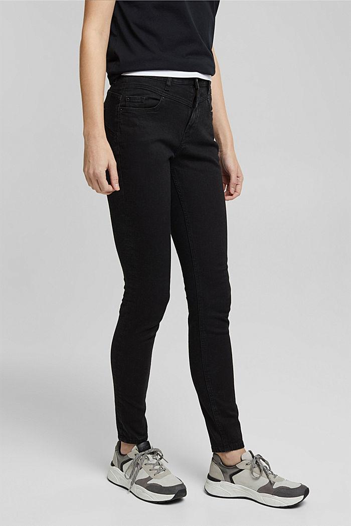 Shaping-Jeans mit Organic Cotton, BLACK RINSE, detail image number 0