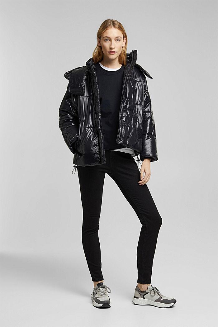 Shaping-Jeans mit Organic Cotton, BLACK RINSE, detail image number 1