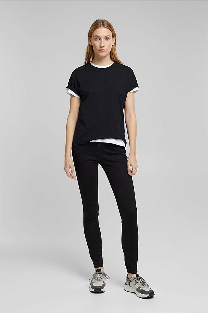 Shaping jeans met biologisch katoen, BLACK RINSE, detail image number 6