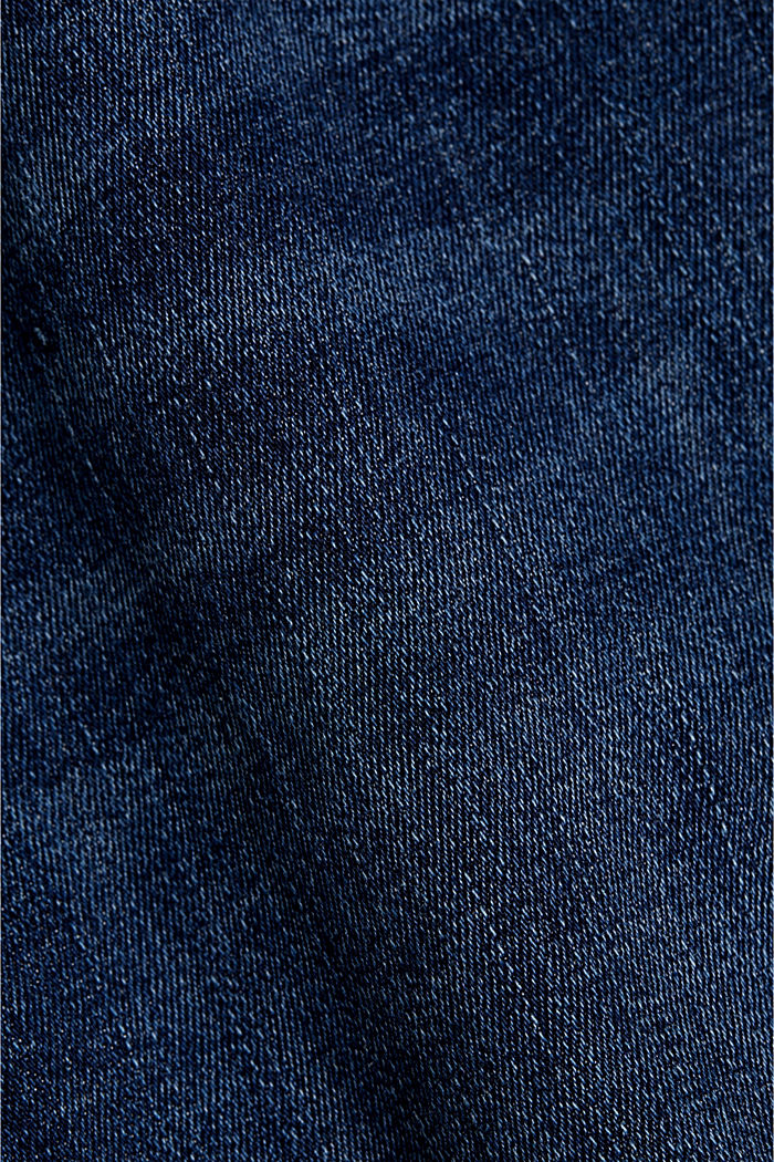 Gerecycled: shaping jeans met biologisch katoen, BLUE DARK WASHED, detail image number 4