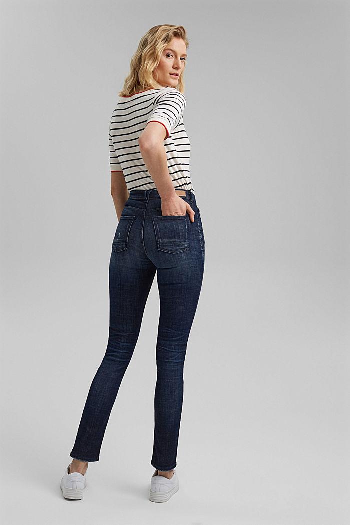 Vintage-look stretch jeans, BLUE DARK WASHED, detail image number 3