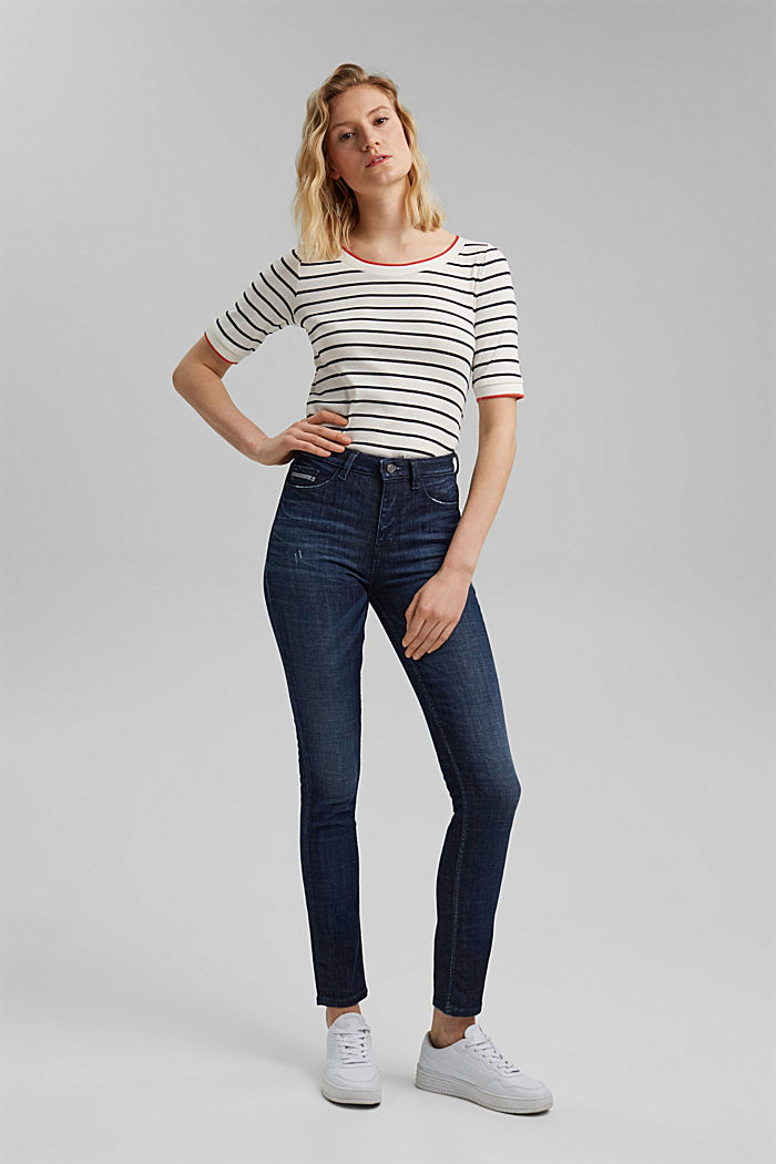 Vintage-look stretch jeans