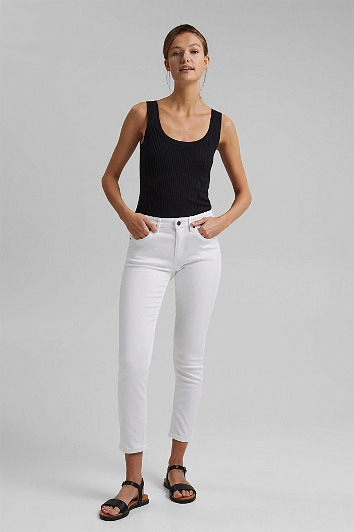 Ankle-Jeans mit Superstretch-Komfort