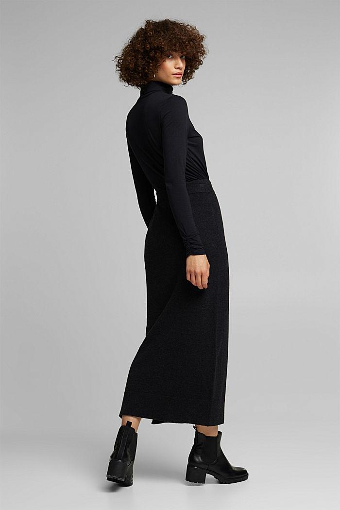 Falda midi con algodón ecológico, ANTHRACITE, detail image number 3