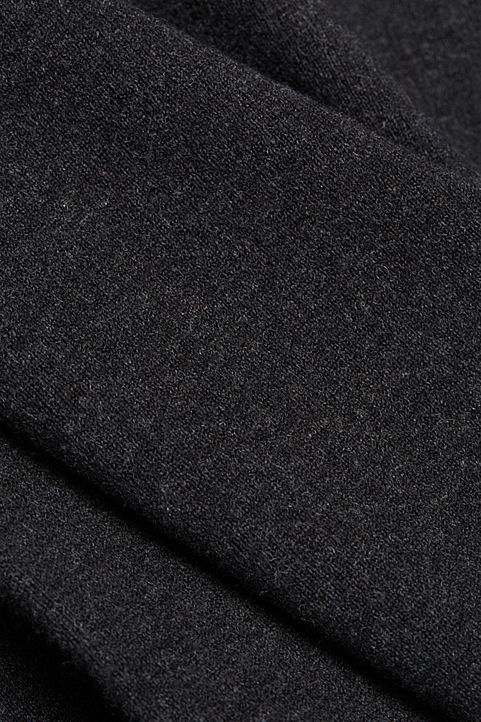 Falda midi con algodón ecológico, ANTHRACITE, detail image number 4