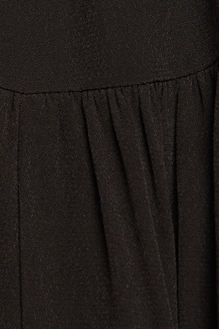 Flounce skirt with LENZING™ ECOVERO™, BLACK, detail image number 4