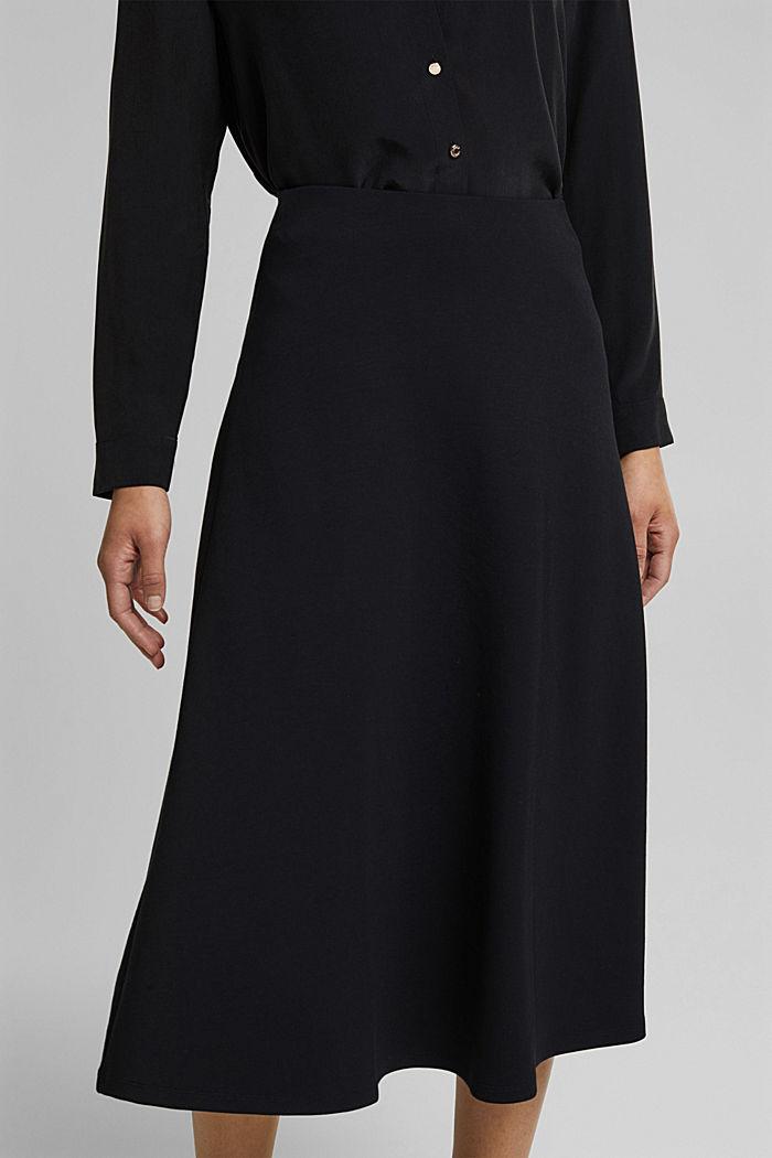 Jersey midi skirt, BLACK, detail image number 2