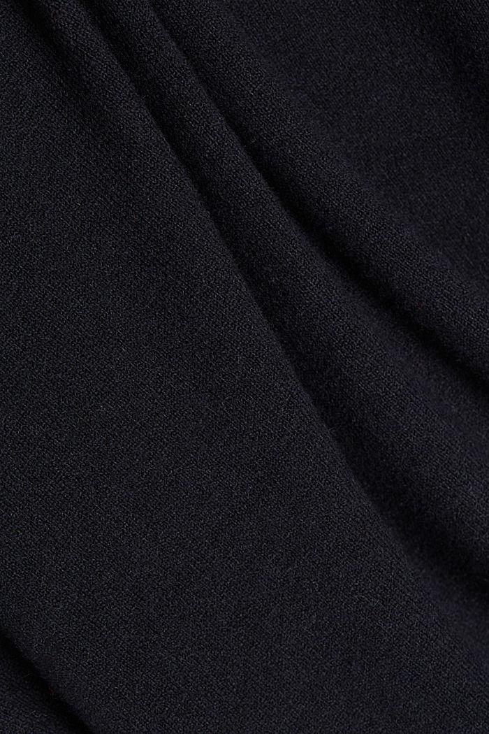 Abito in maglia con cotone biologico, BLACK, detail image number 4