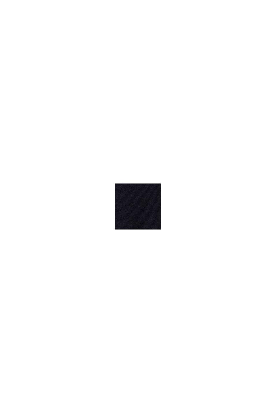 Robe-pull à teneur en coton bio, BLACK, swatch