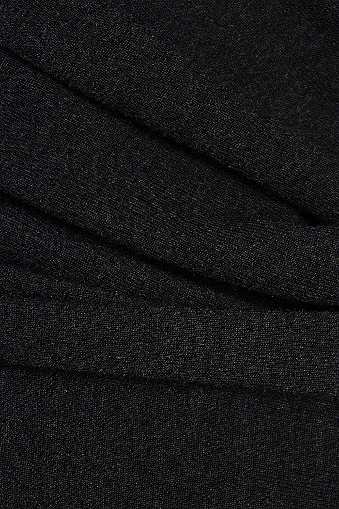 Knitted wrap dress with LENZING™ ECOVERO, BLACK, detail image number 3