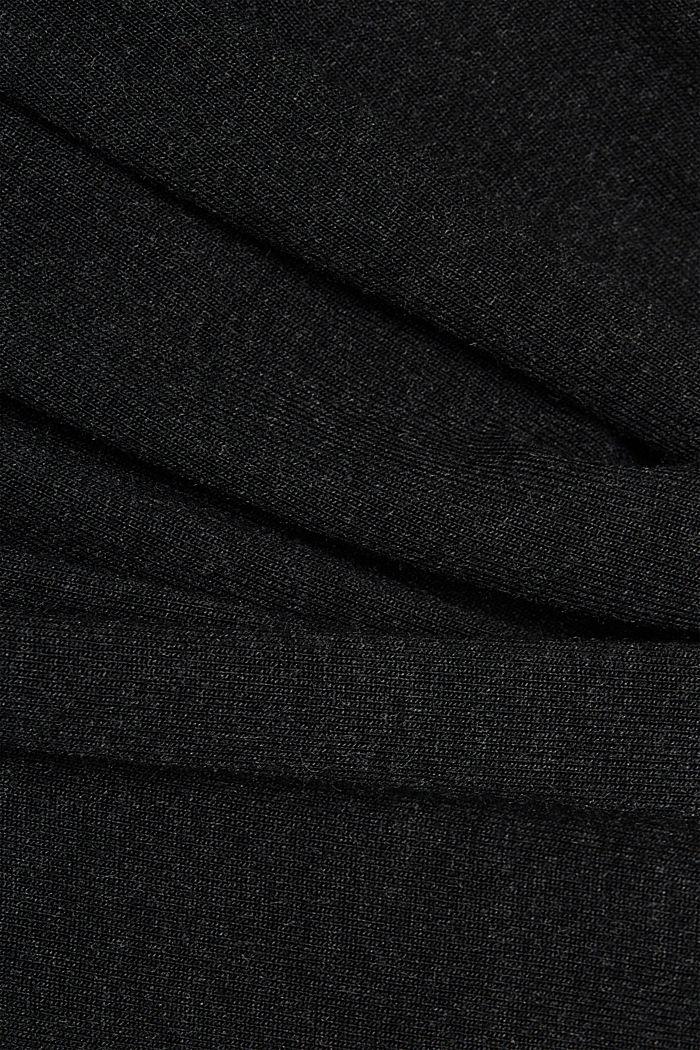 Zavinovací pletené šaty s materiálem LENZING™ ECOVERO, BLACK, detail image number 3