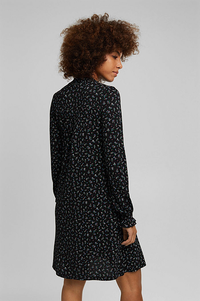 Kleid aus LENZING™ ECOVERO™, BLACK, detail image number 2