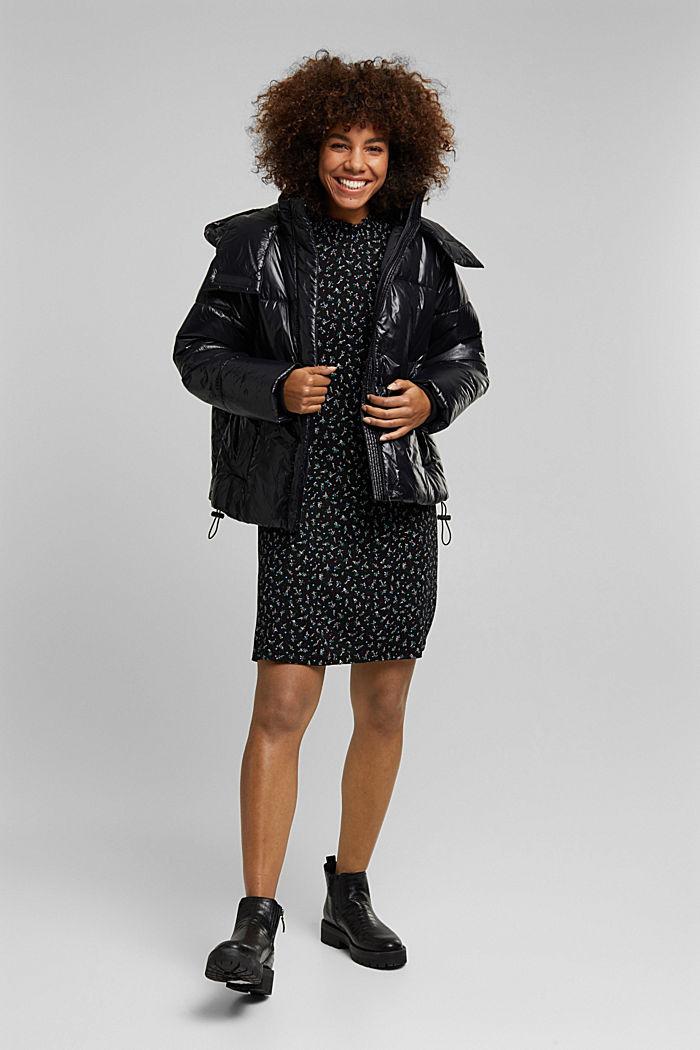 Kleid aus LENZING™ ECOVERO™, BLACK, detail image number 1