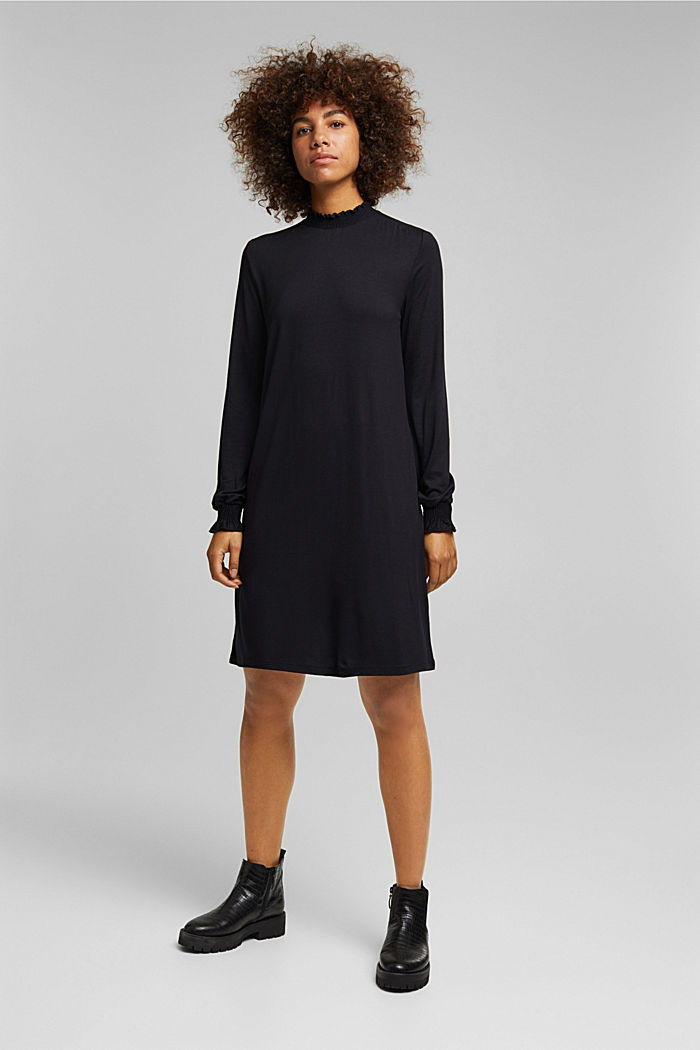 LENZING™ ECOVERO™ dress, NEW BLACK, detail image number 1