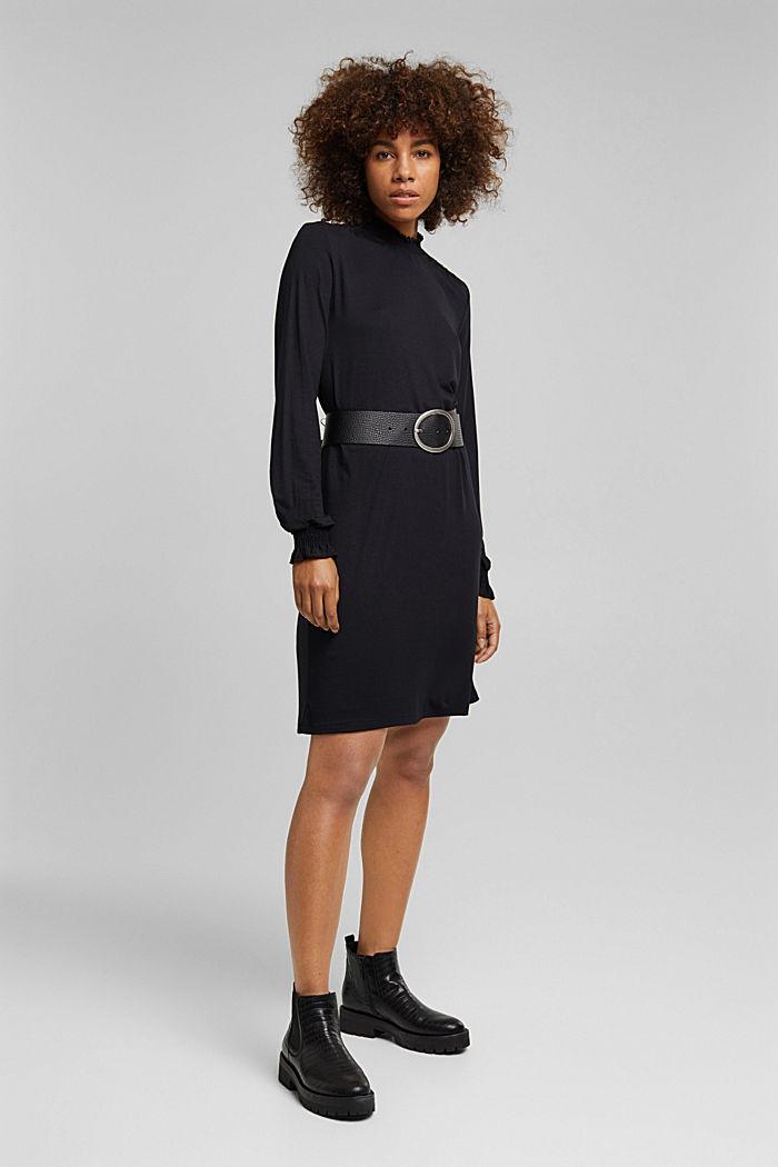 LENZING™ ECOVERO™ dress, NEW BLACK, detail image number 6