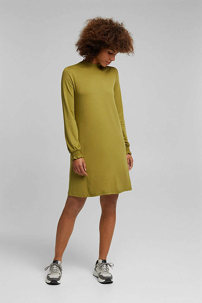 LENZING™ ECOVERO™ dress, OLIVE, detail image number 0