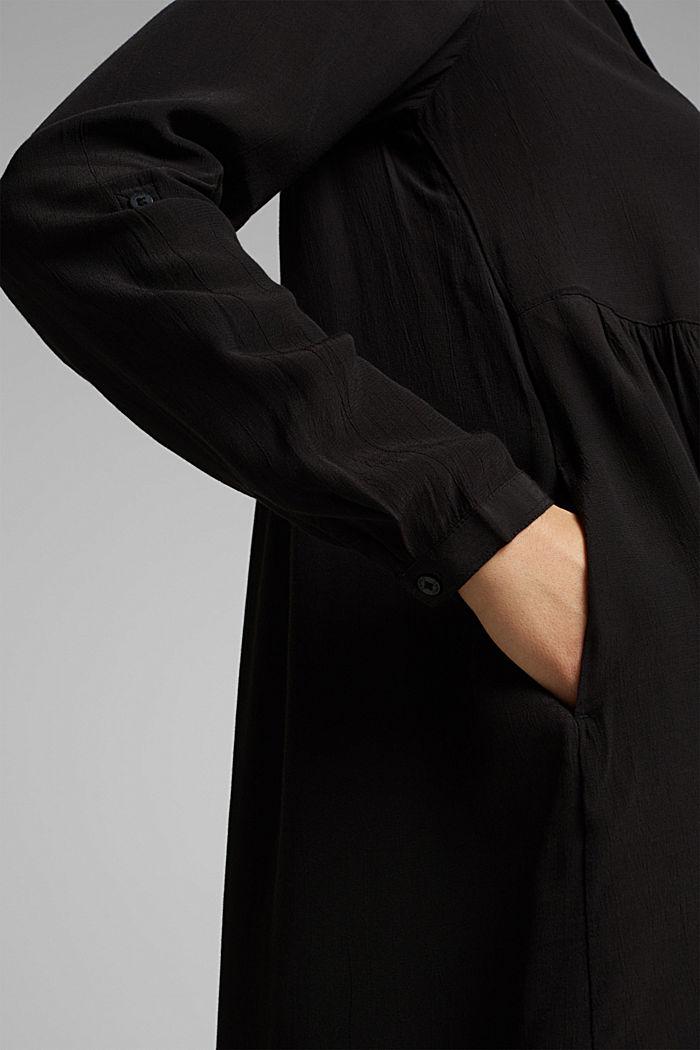 LENZING™ ECOVERO™ dress, BLACK, detail image number 3