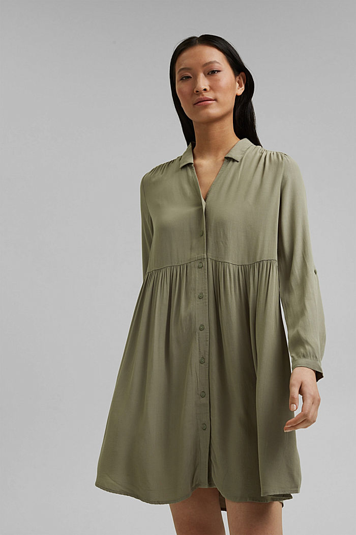 LENZING™ ECOVERO™ dress, LIGHT KHAKI, detail image number 0