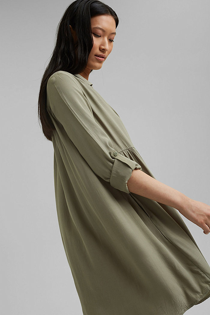 LENZING™ ECOVERO™ dress, LIGHT KHAKI, detail image number 5