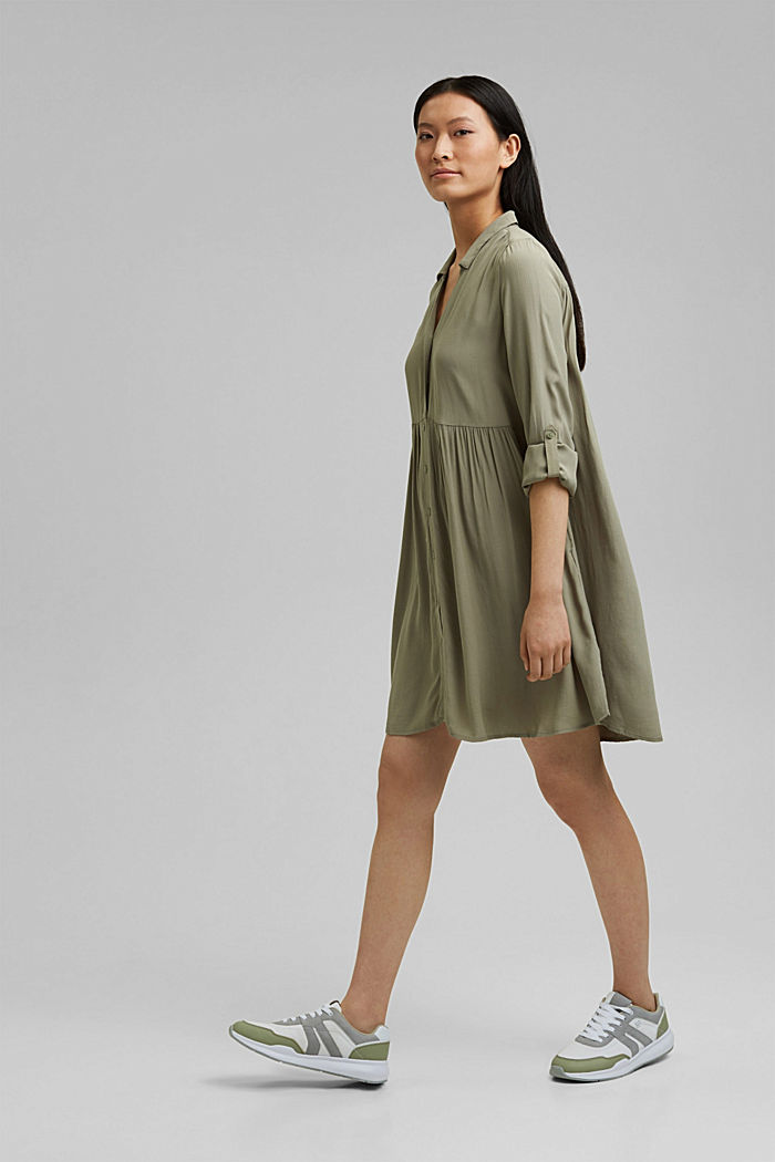 LENZING™ ECOVERO™ dress, LIGHT KHAKI, detail image number 1