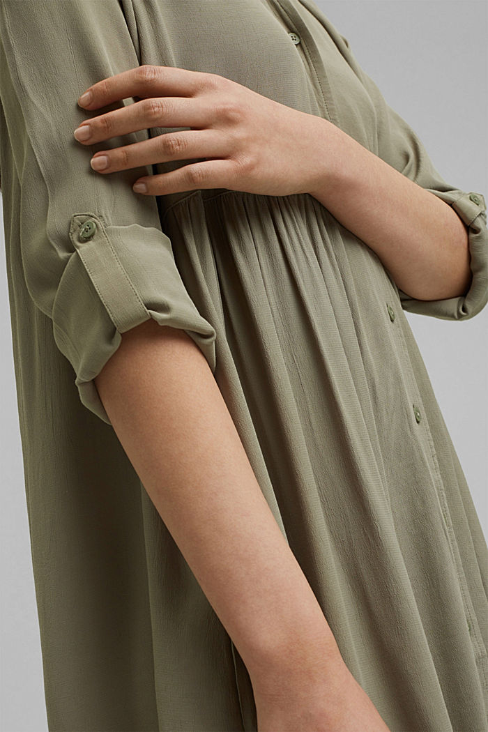 LENZING™ ECOVERO™ dress, LIGHT KHAKI, detail image number 3