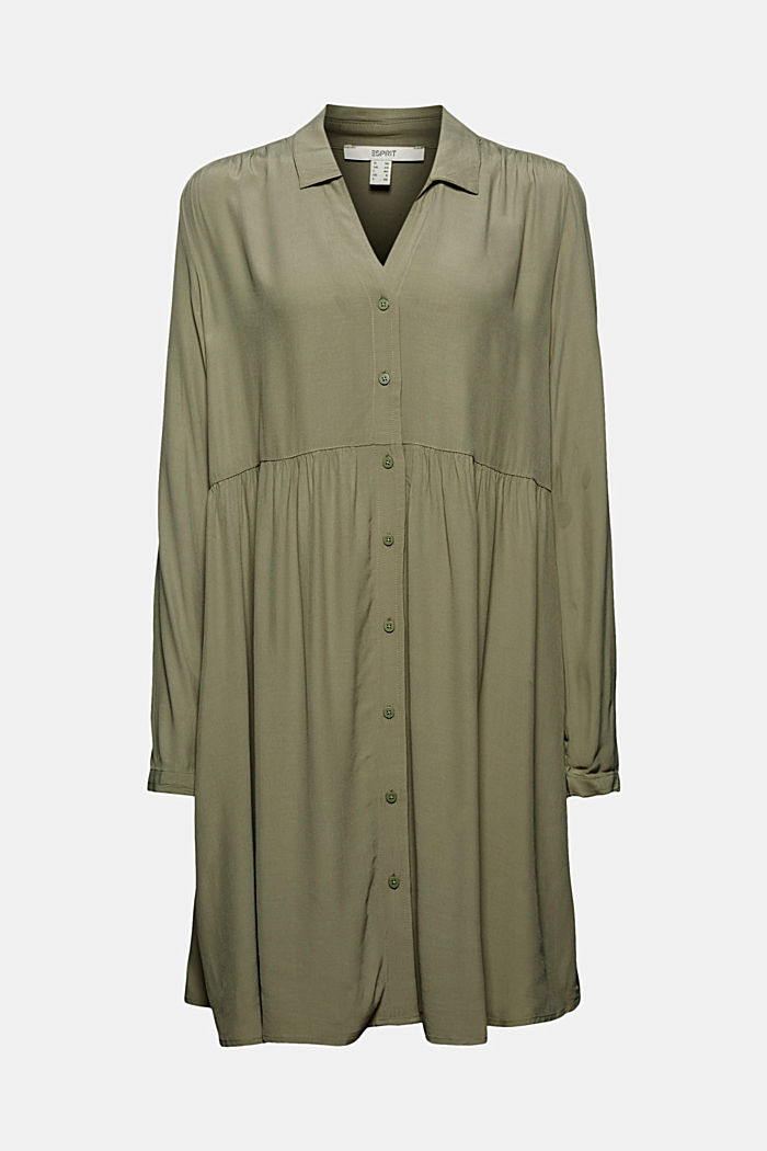 LENZING™ ECOVERO™ dress, LIGHT KHAKI, detail image number 7