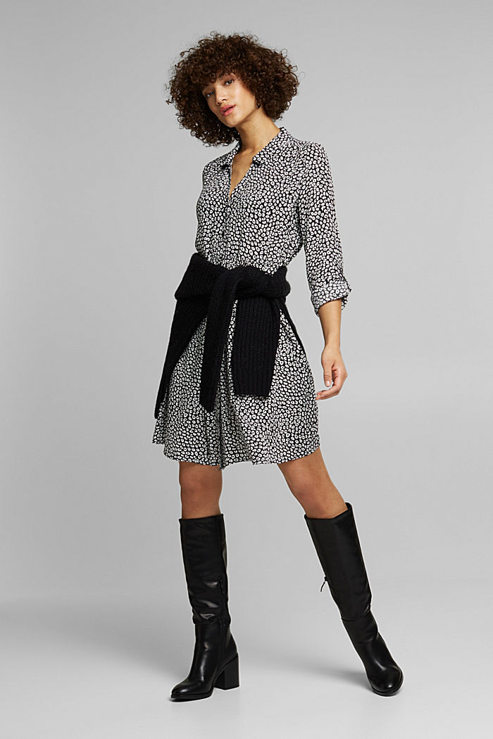 LENZING™ ECOVERO™ dress, BLACK, detail image number 1
