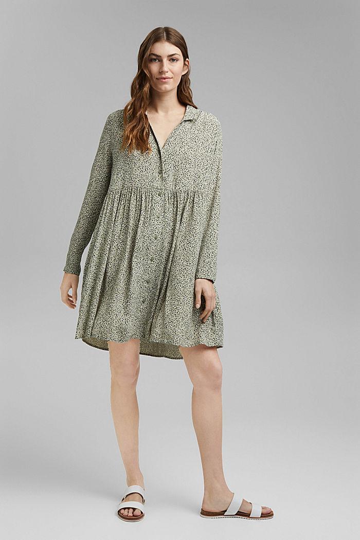 Kleid aus LENZING™ ECOVERO™, LIGHT KHAKI, detail image number 1