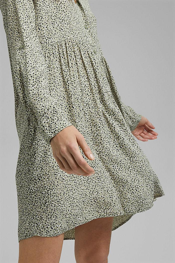 Kleid aus LENZING™ ECOVERO™, LIGHT KHAKI, detail image number 3