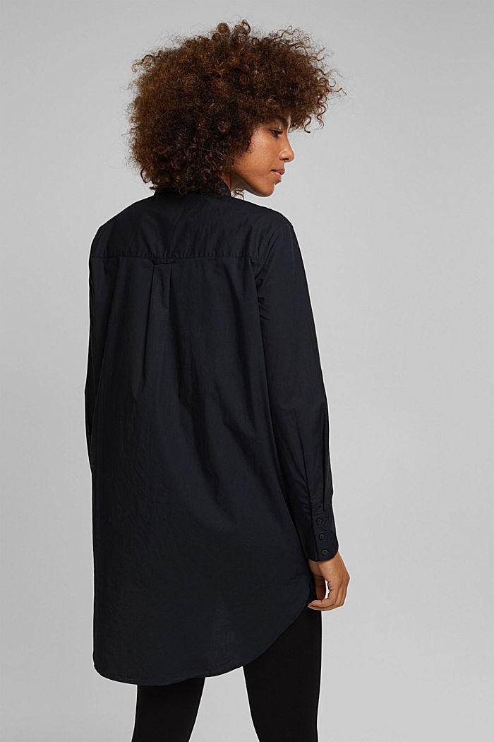 Shirt blouse in 100% organic cotton, BLACK, detail image number 3