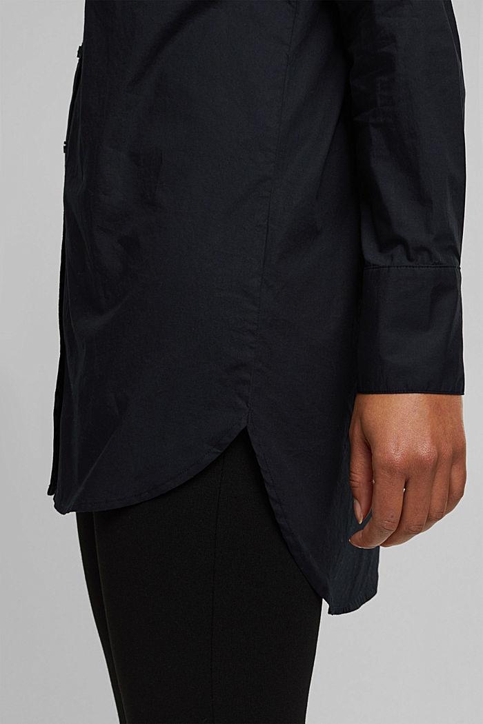 Shirt blouse in 100% organic cotton, BLACK, detail image number 5