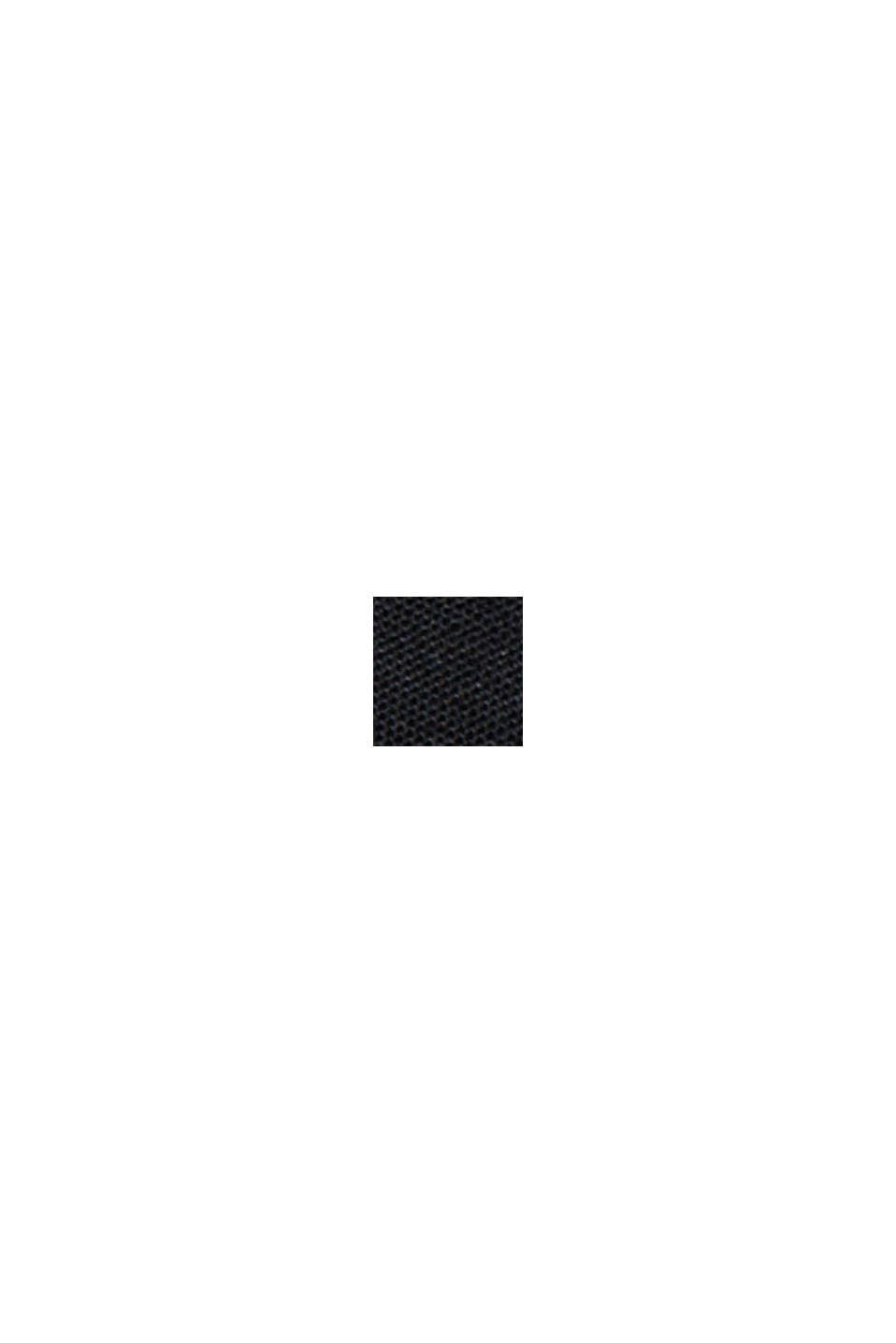 Camicia blusata in 100% cotone biologico, BLACK, swatch