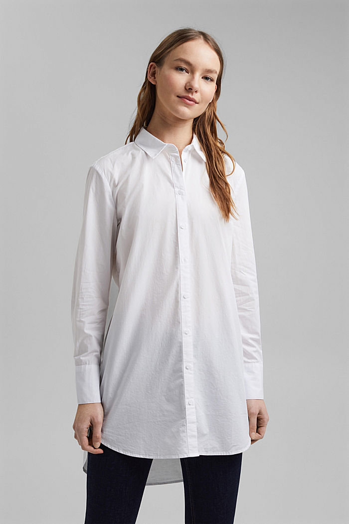 Shirt blouse in 100% organic cotton