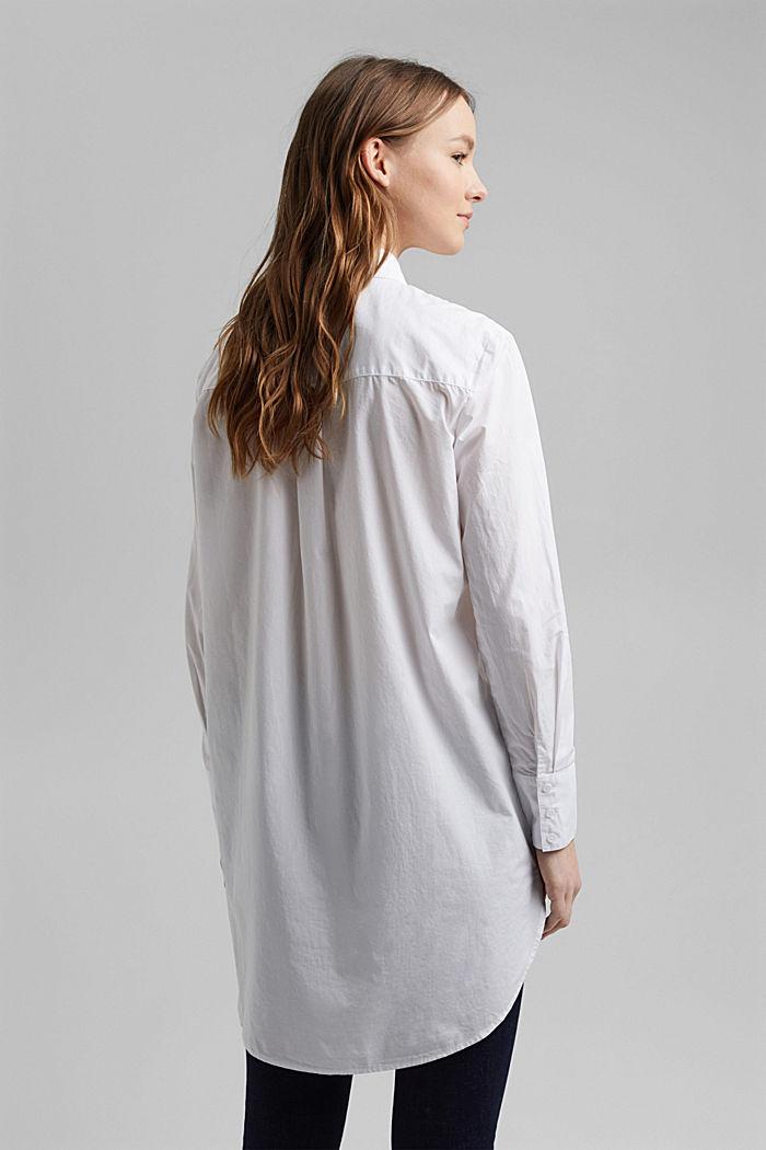 Shirt blouse in 100% organic cotton, WHITE, detail image number 3