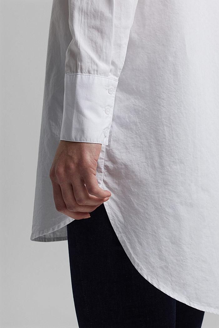 Shirt blouse in 100% organic cotton, WHITE, detail image number 5