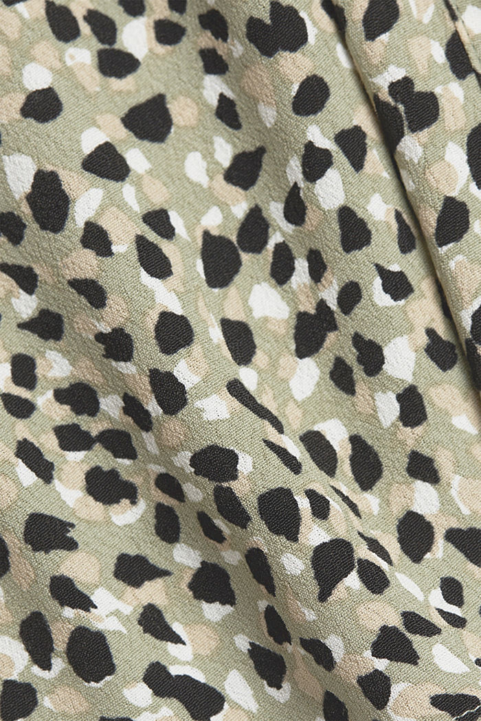 Blouse made from LENZING™ ECOVERO™, LIGHT KHAKI, detail image number 4
