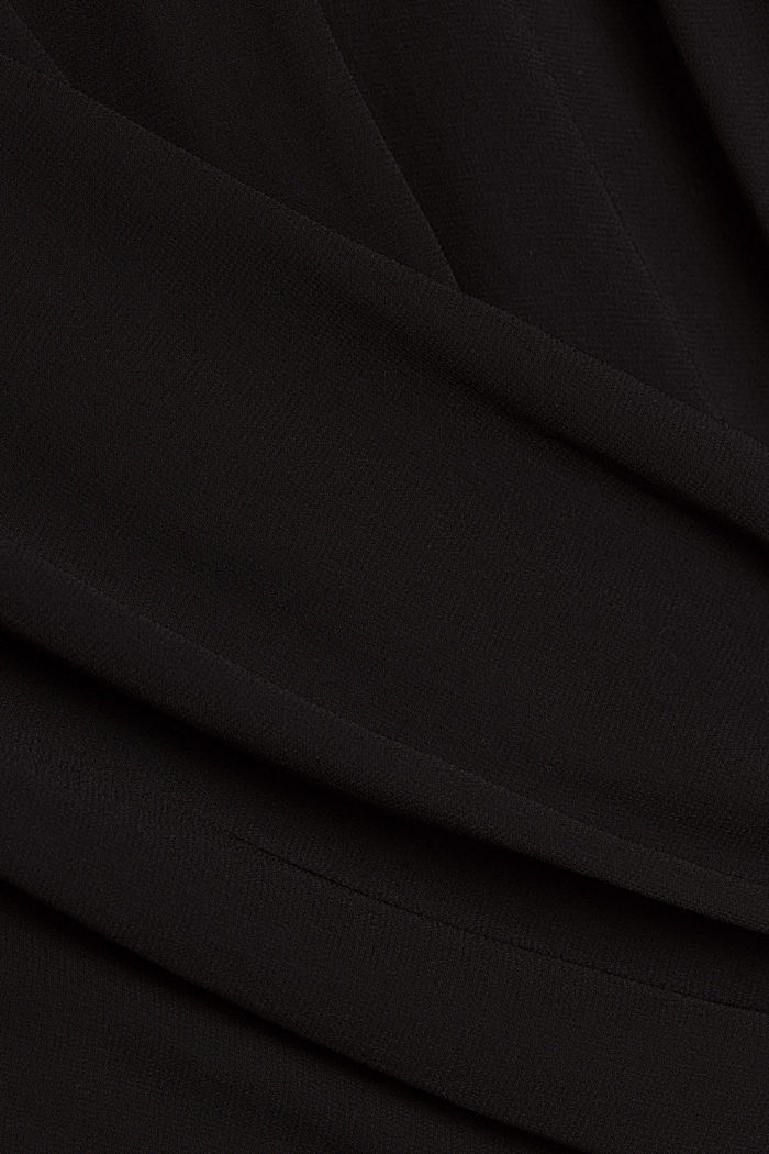 Recycelt: Chiffonbluse mit Rückenausschnitt, BLACK, detail image number 4